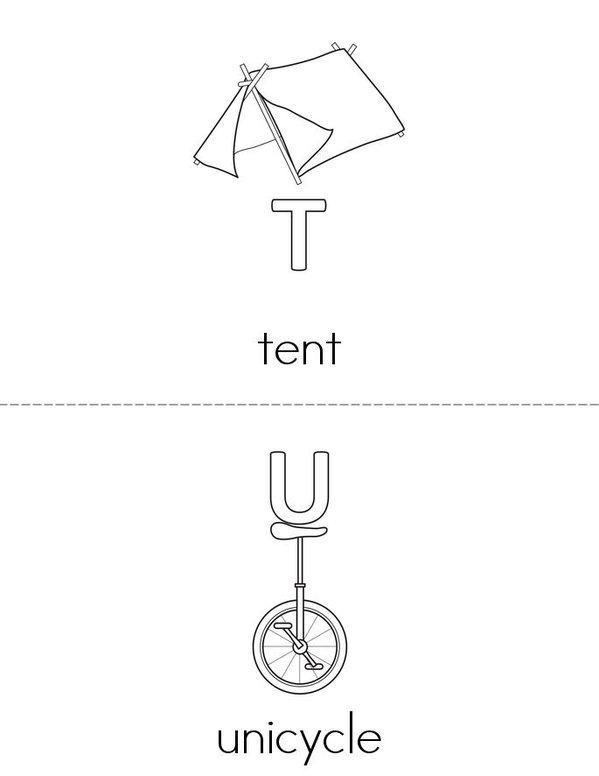 Alphabet Mini Book - Sheet 11