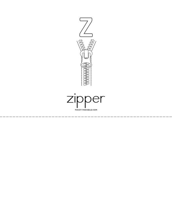 Alphabet Mini Book - Sheet 14