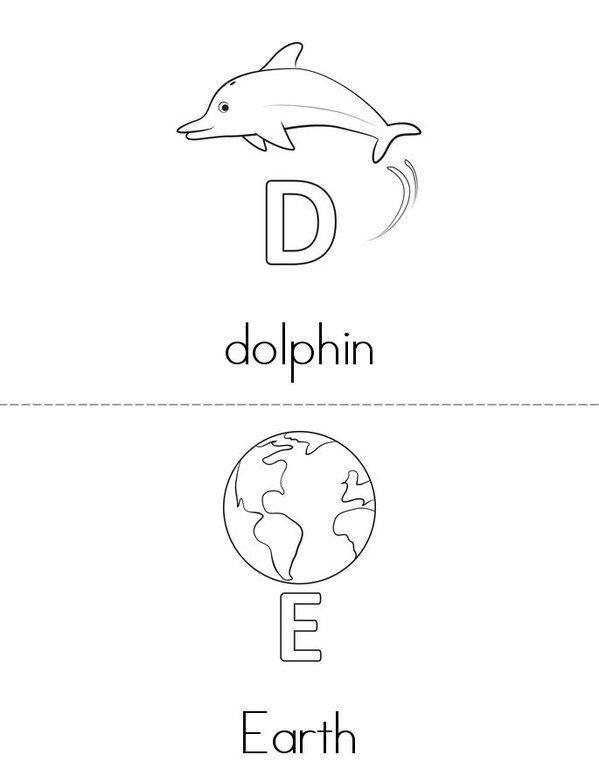 Alphabet Mini Book - Sheet 3