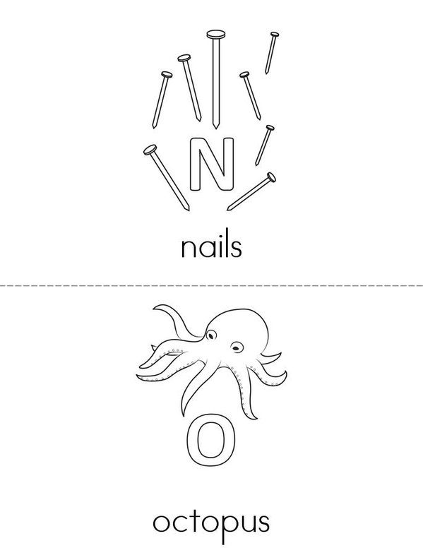 Alphabet Mini Book - Sheet 8