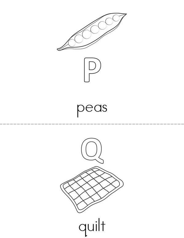 Alphabet Mini Book - Sheet 9