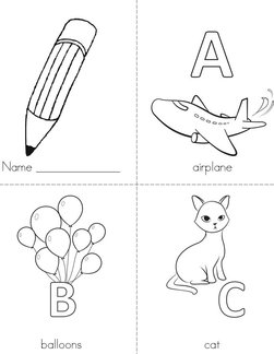 photo relating to Alphabet Booklets Printable titled Alphabet Publications - Twisty Noodle