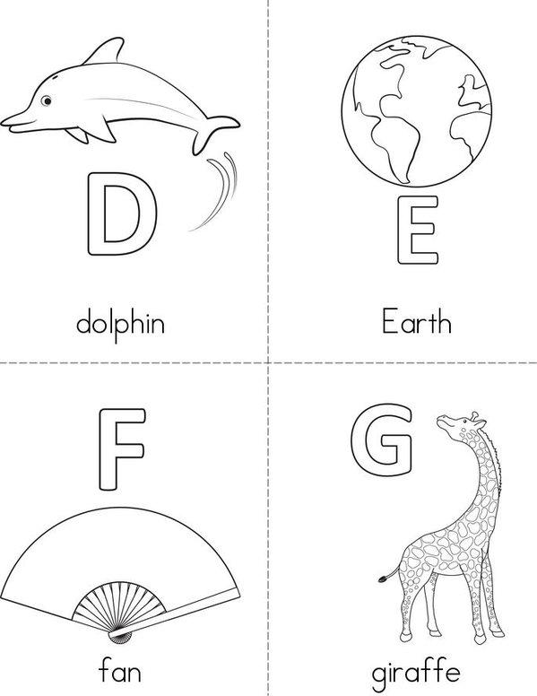 Alphabet Mini Book - Sheet 2