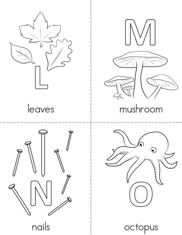 Alphabet Mini Book - Sheet 4
