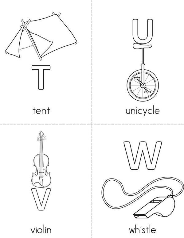 Alphabet Mini Book - Sheet 6