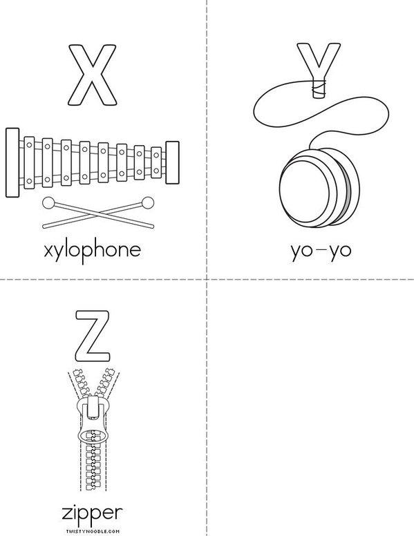 Alphabet Mini Book - Sheet 7