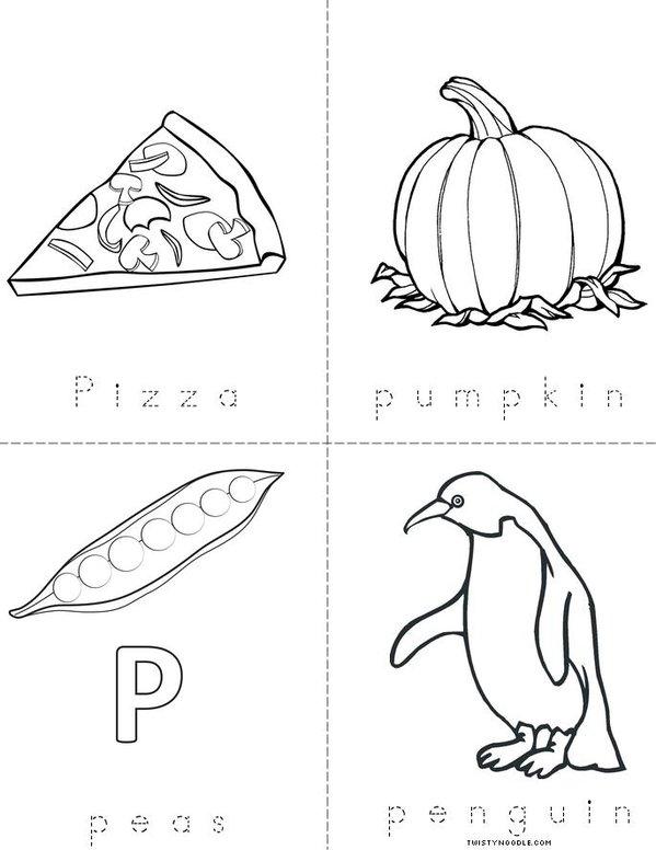 P for Pizza Mini Book