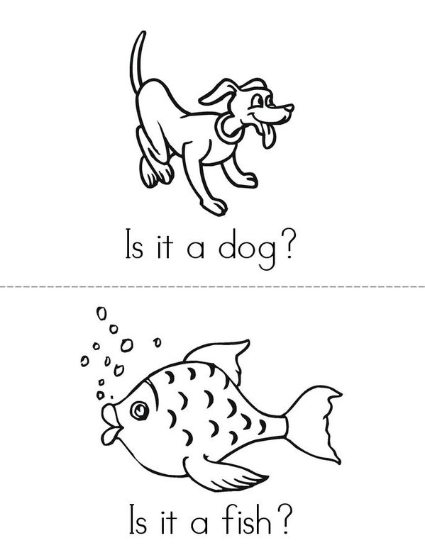 Pets Mini Book - Sheet 1