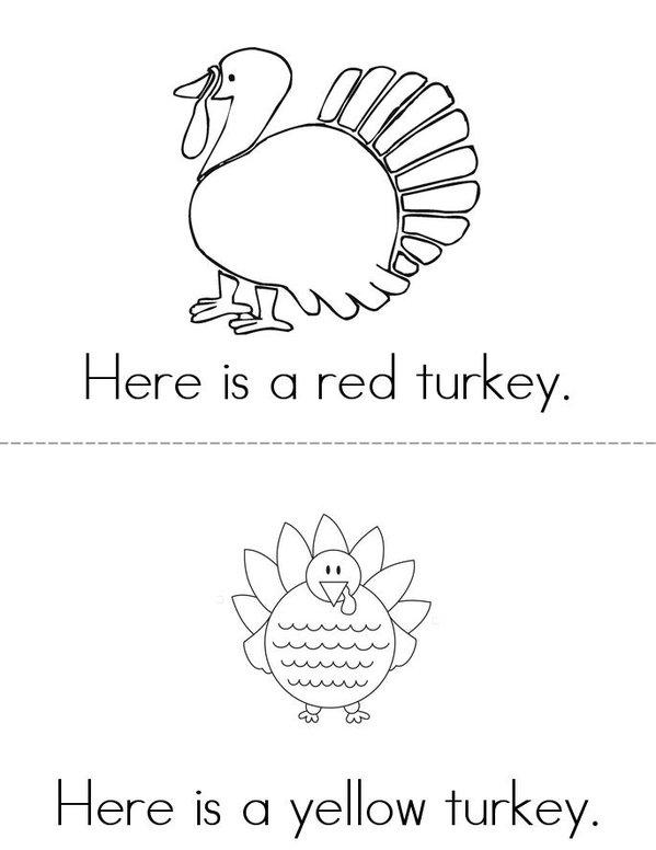 Turkeys! Mini Book - Sheet 2