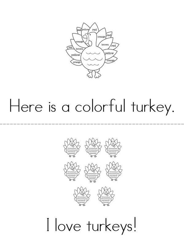 Turkeys! Mini Book - Sheet 3