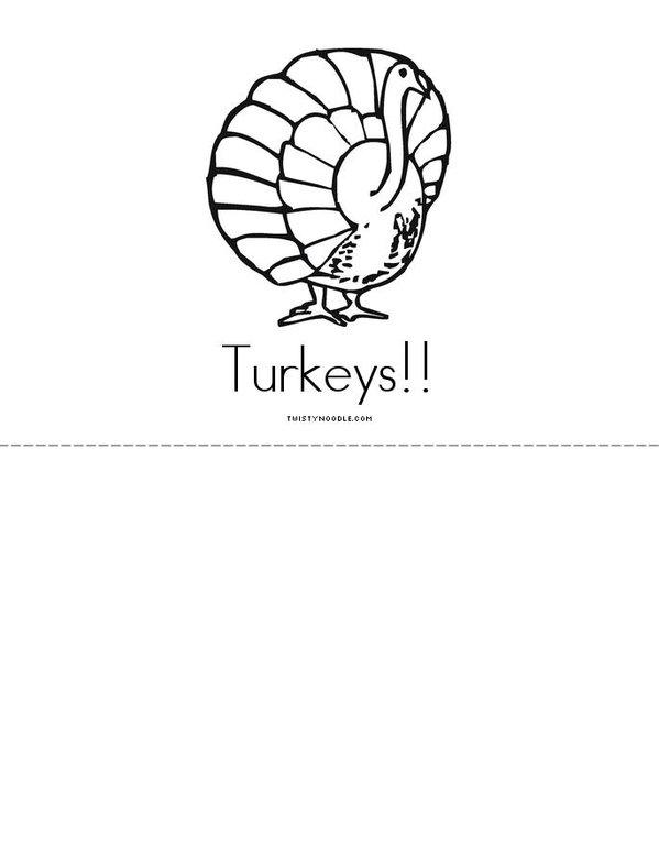 Turkeys! Mini Book - Sheet 4