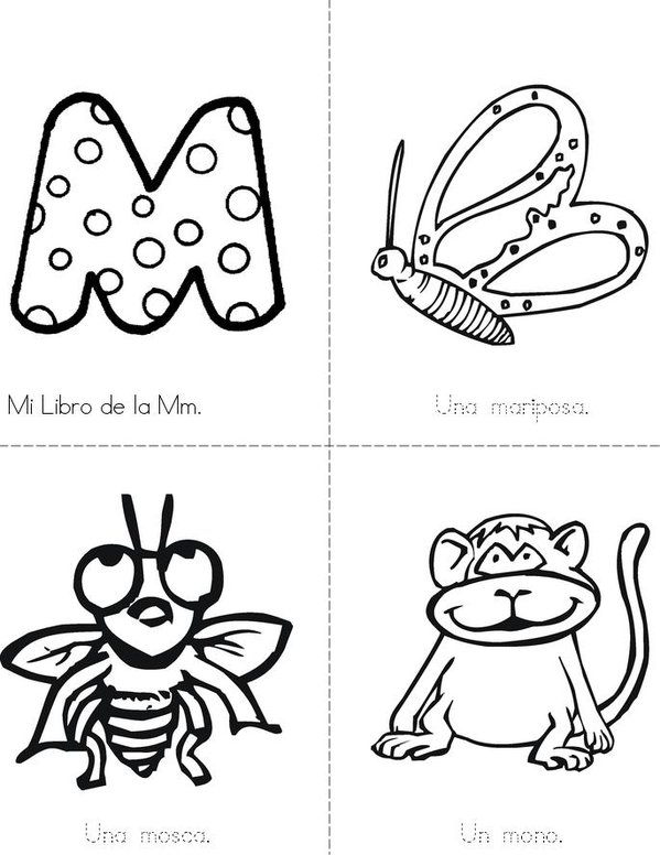 Mi libro de la Mm Mini Book - Sheet 1
