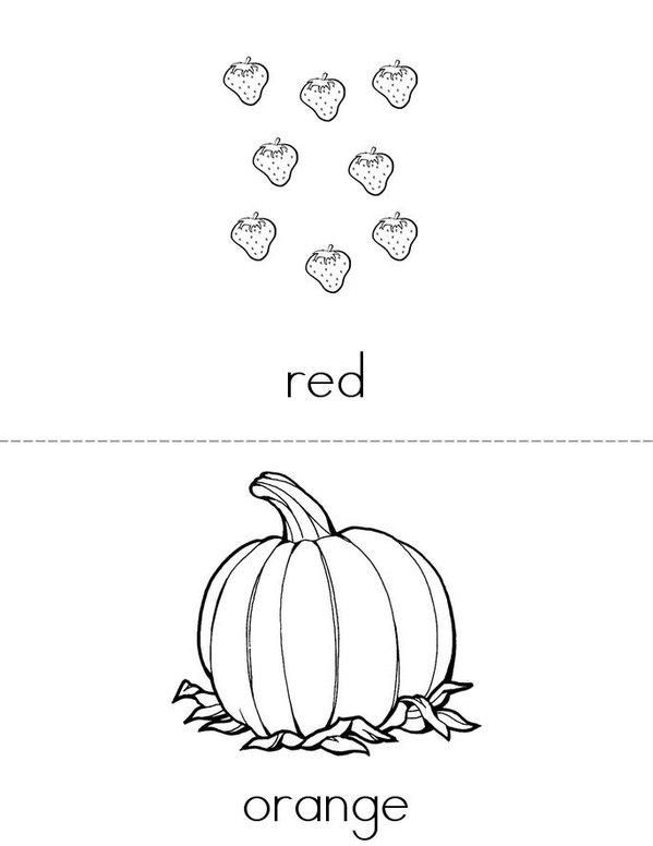 Colors Mini Book - Sheet 1