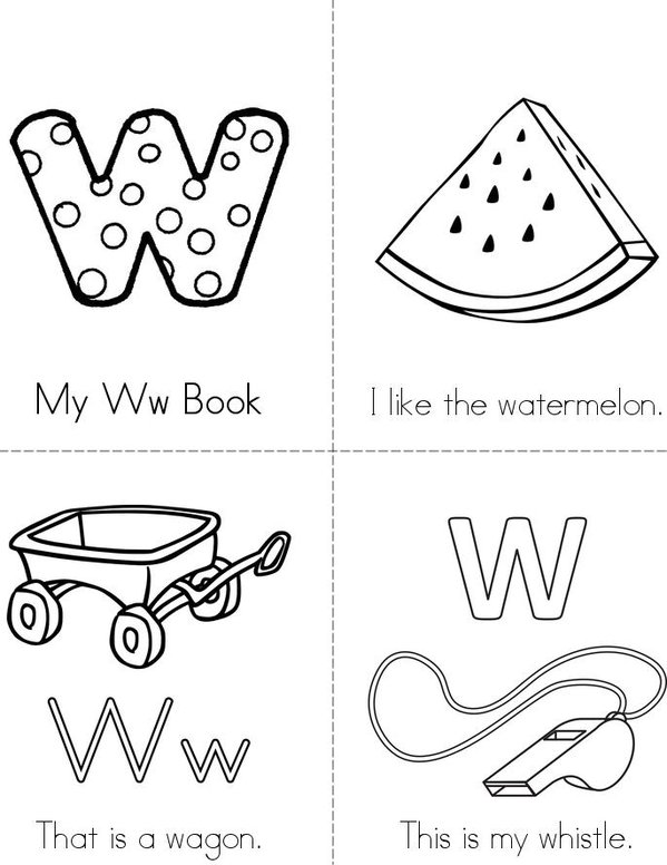 My Ww Book Mini Book - Sheet 1