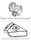 Turkey, Turkey, What Do You See Book
