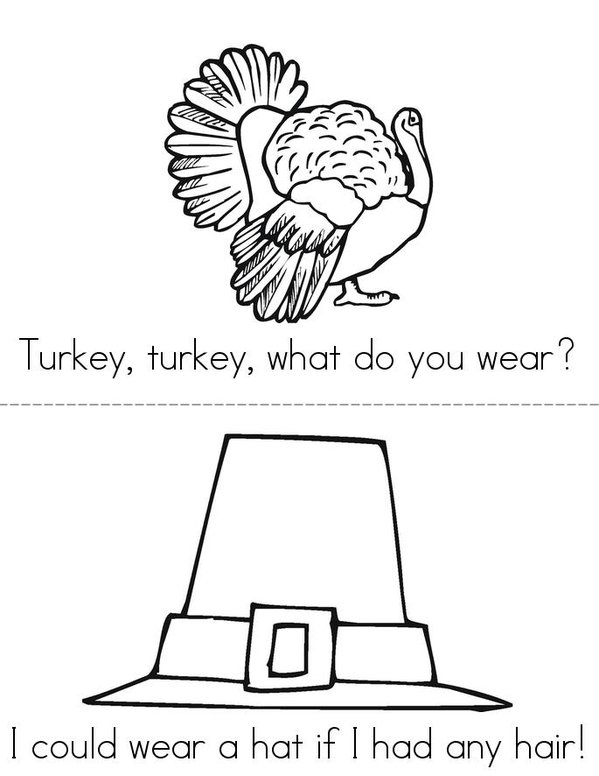 Turkey, Turkey, What Do You See? Mini Book - Sheet 5