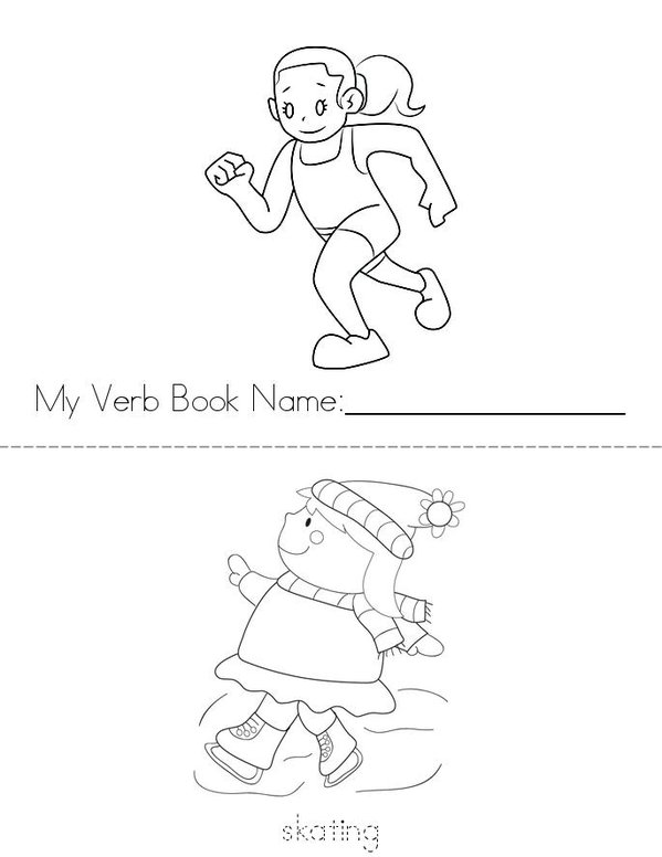 My Verb Book Mini Book - Sheet 1