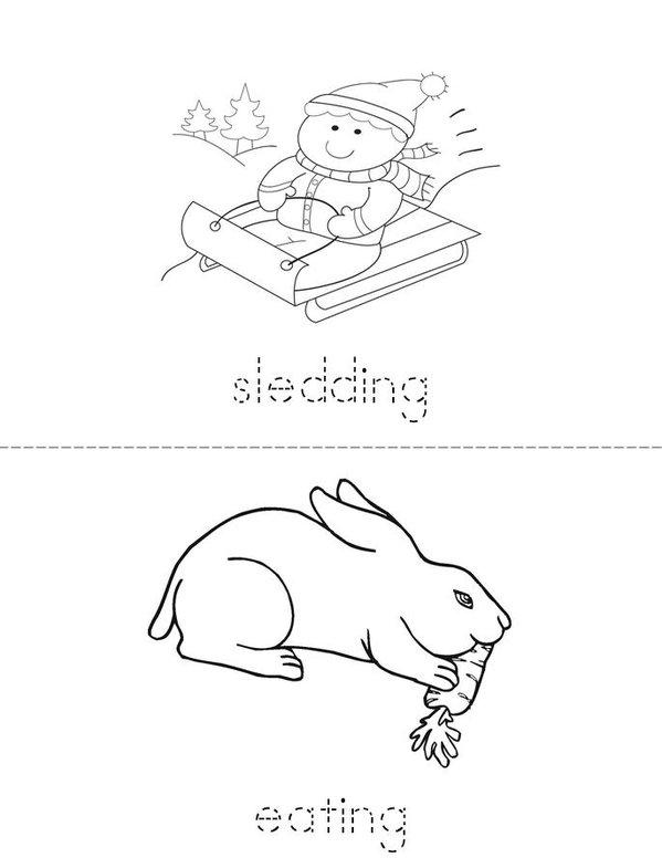 My Verb Book Mini Book - Sheet 2