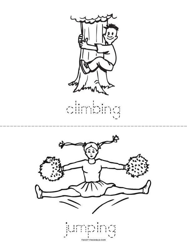 My Verb Book Mini Book - Sheet 4