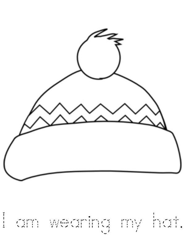 Winter Clothes Mini Book - Sheet 1