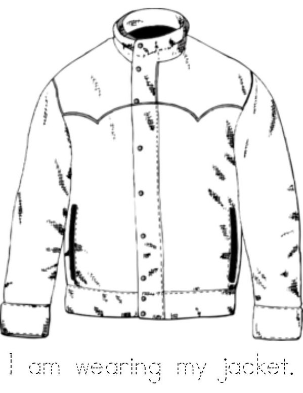 Winter Clothes Mini Book - Sheet 2