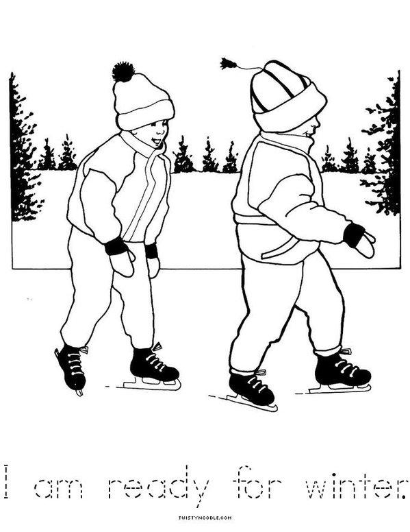 Winter Clothes Mini Book - Sheet 6
