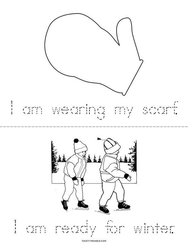 Winter Clothes Mini Book - Sheet 3