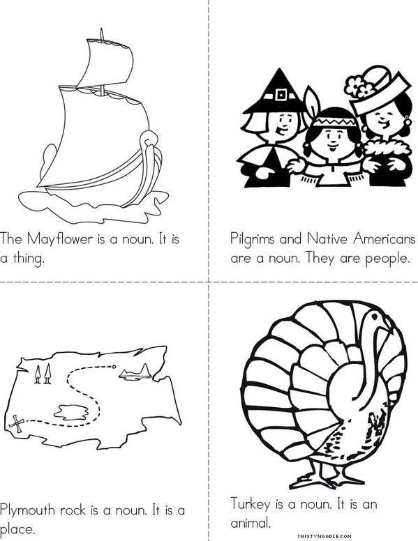 Thanksgiving Nouns Mini Book