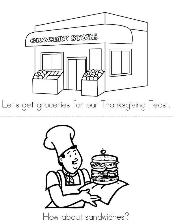 Thanksgiving Feast Mini Book - Sheet 1