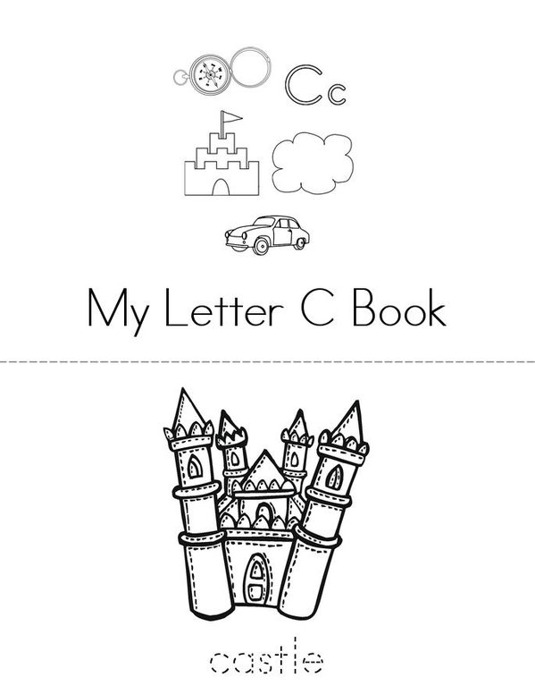 My C book Mini Book - Sheet 1