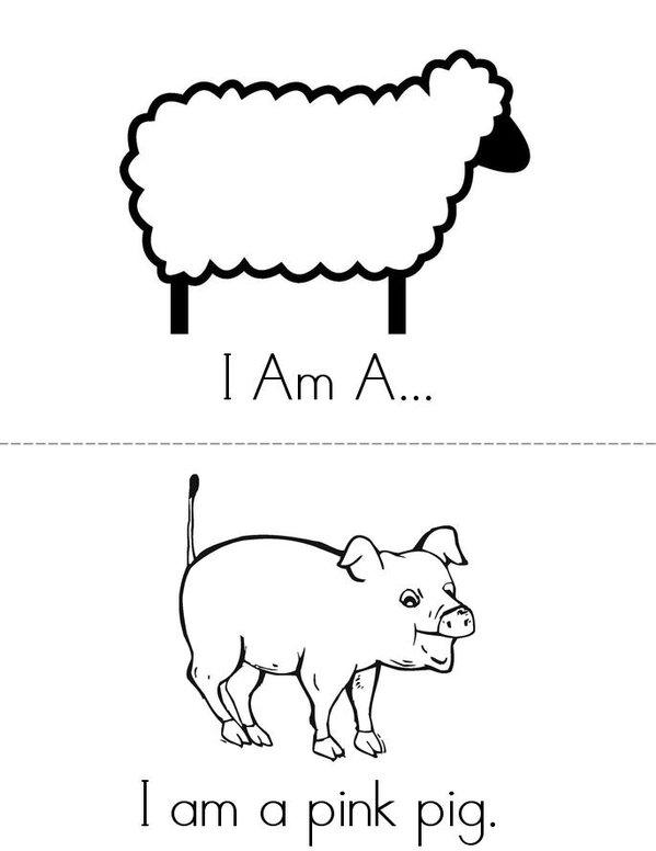 I Am A...  Mini Book - Sheet 1