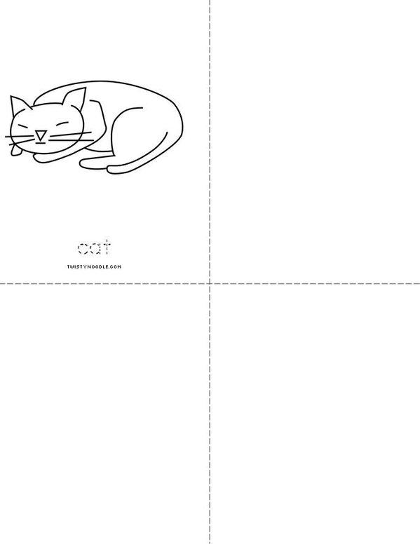 Short a Mini Book - Sheet 2