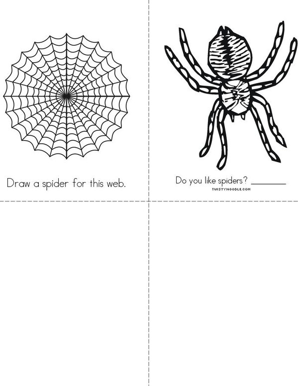 My Book About Spiders Mini Book - Sheet 2