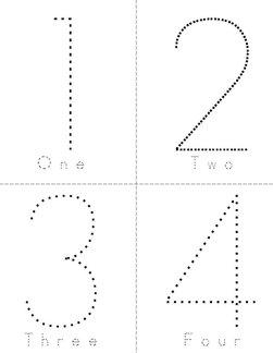 Number Words 0-9 Book
