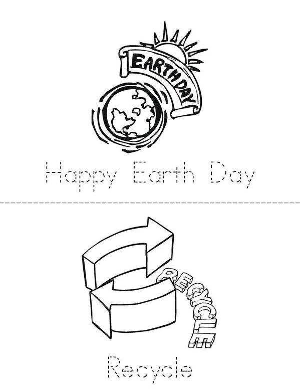 Earth Day Mini Book - Sheet 1