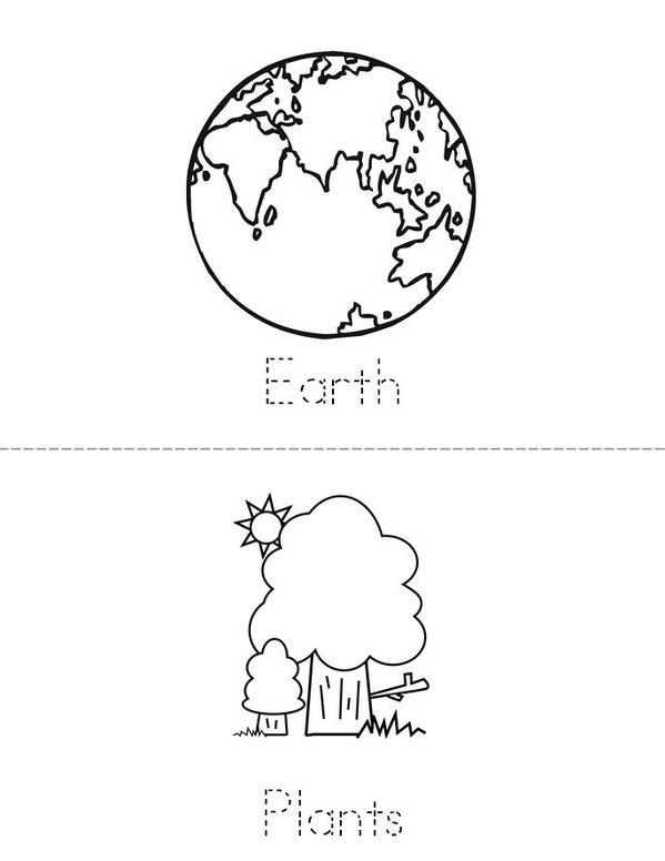 Earth Day Mini Book - Sheet 2