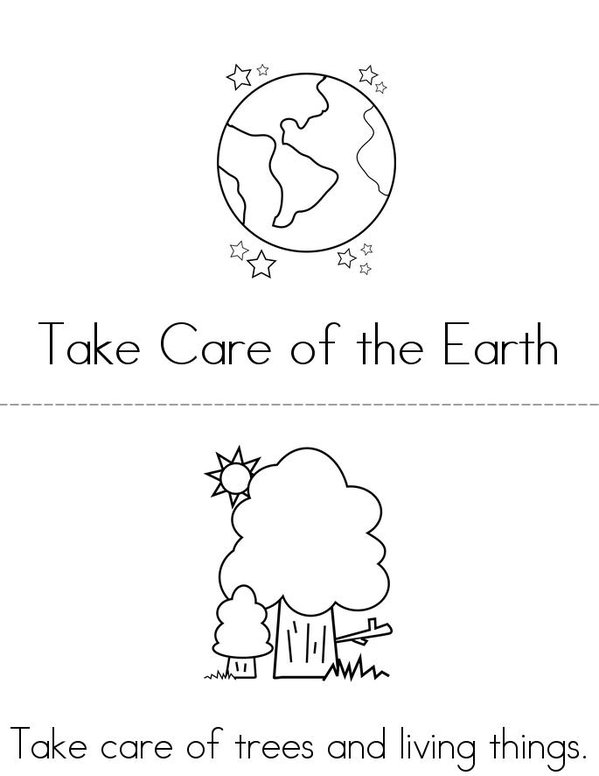 Take care of our Earth Mini Book - Sheet 1