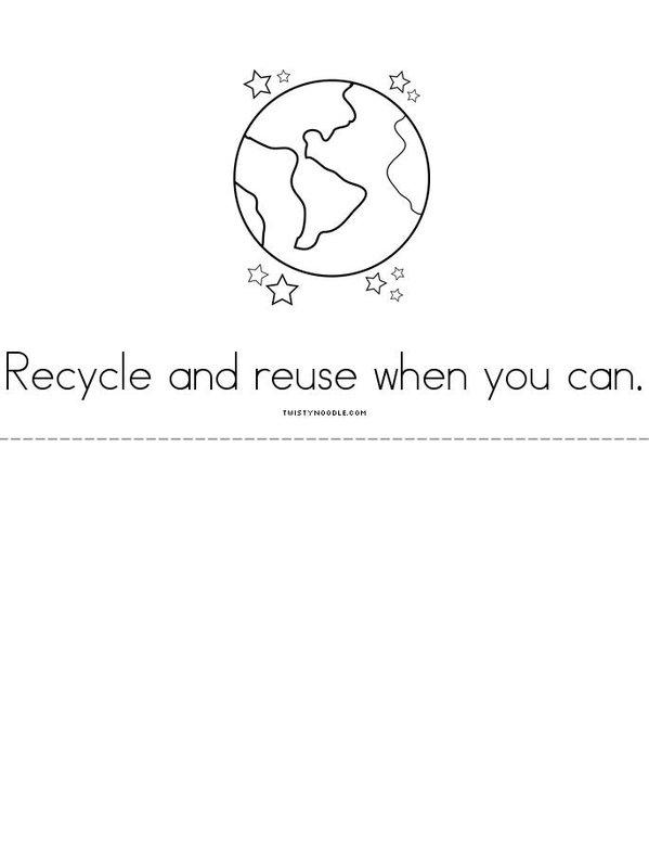 Take care of our Earth Mini Book - Sheet 3