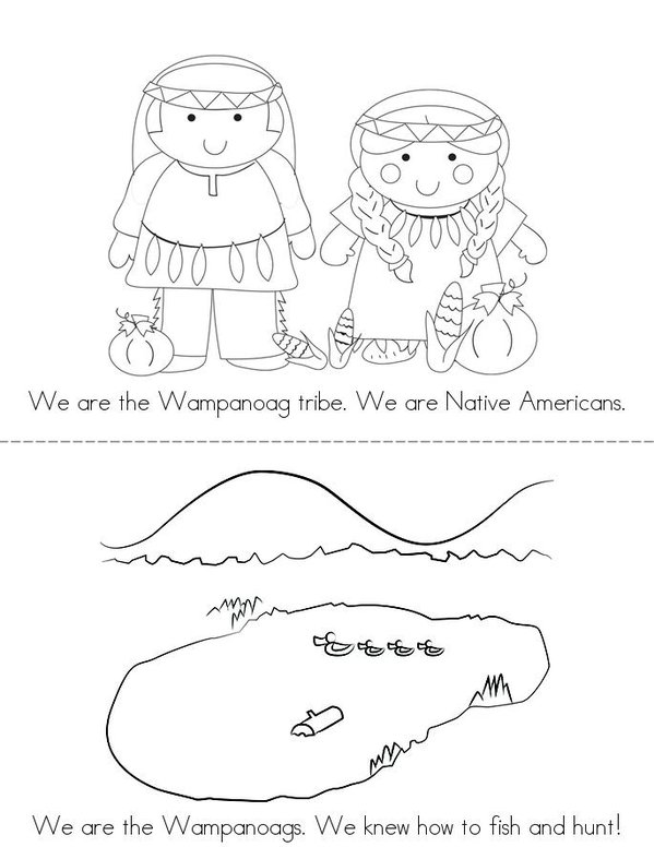 We are the Wampanoags! Mini Book - Sheet 1