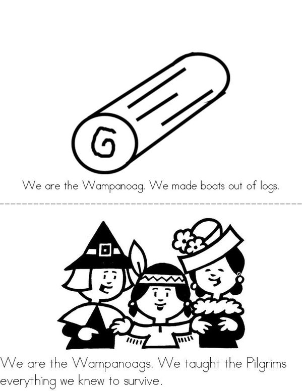 We are the Wampanoags! Mini Book - Sheet 3