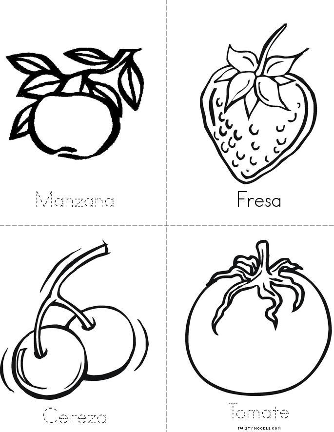 coloring pages las frutas spanish - photo#7