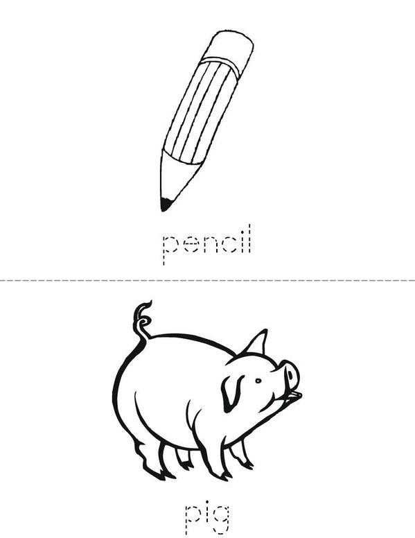 p book Mini Book - Sheet 2