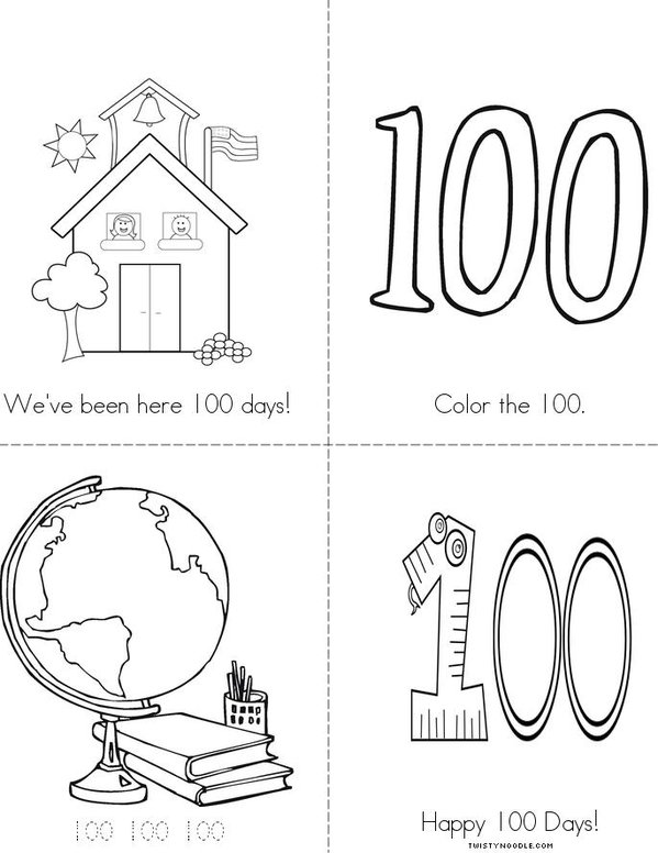 100 Days Mini Book
