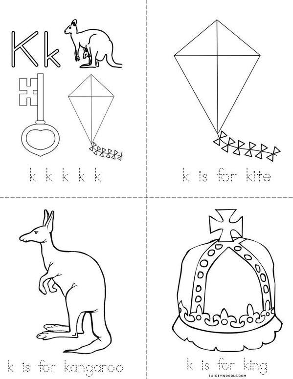 Letter K Mini Book