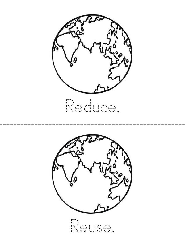 Three R's for Earth Day! Mini Book - Sheet 1