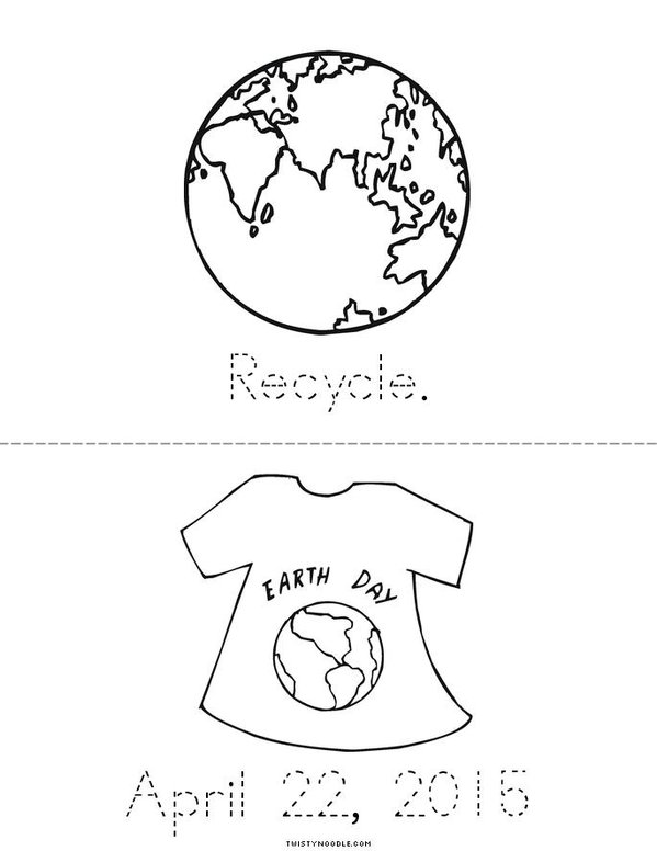 Three R's for Earth Day! Mini Book - Sheet 2