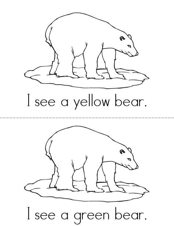 Bears in Pairs Mini Book - Sheet 2