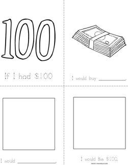 If I Had $100... Book