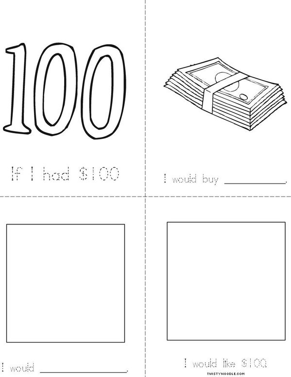 If I Had $100... Mini Book