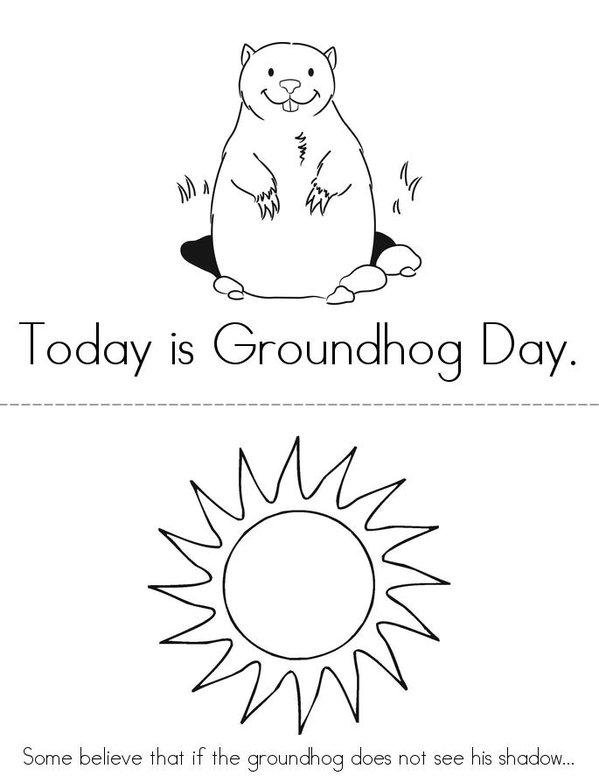 Groundhog Day Mini Book - Sheet 1